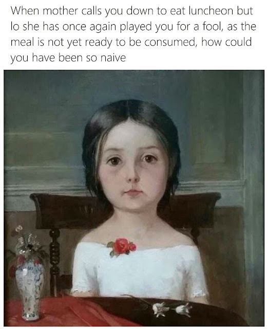 ford madox brown paintings - When mother calls you down to eat luncheon but lo she has once again played you for a fool, as the meal is not yet ready to be consumed, how could you have been so naive