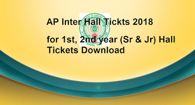 Manabadi AP Inter Hall Tickets 2018