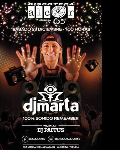 DJ Marta en Discoteca Alcor 65