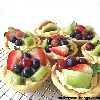 Fruit cheesecake cookies cup