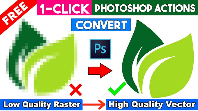 Convert Raster to Vector in Photoshop 1-Click Premium Actions Free Download