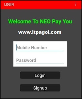 Click Signup for Create Neopayyou account.