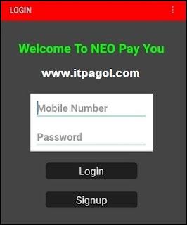 সাইনআপ CLICK এর জন্য Neopayyou অ্যাকাউন্ট তৈরি করুন।