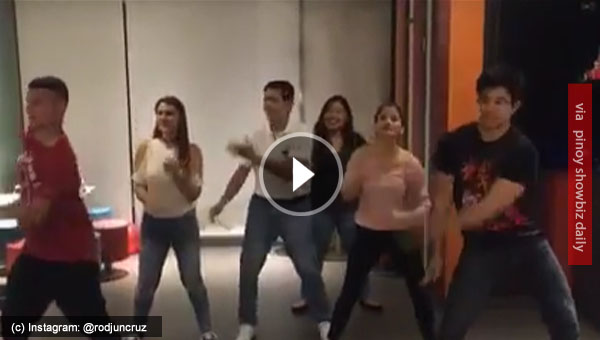 Watch: Lolo Tirso Cruz III dances with his grandchildren
