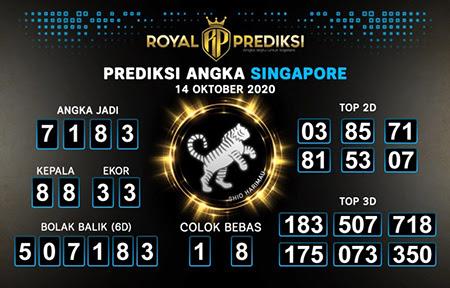 Royal Prediksi SGP Rabu 14 Oktober 2020