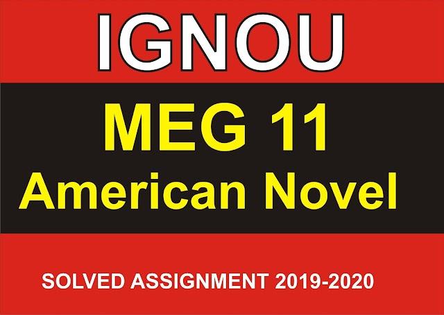 MEG-11 Solved Assignment 2020-21