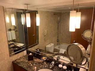 Bathroom at Hilton Singapore