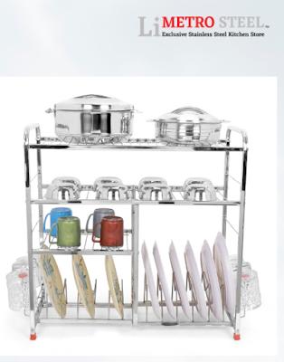 LiMETRO STEEL 4 Layer Kitchen Utensils Rack to Organize Every Modern Kitchen
