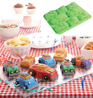 8 Small Cars Cake Moulds