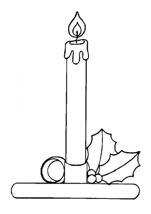 Candle coloring pages printable ~ Coloring Pages Beautiful Candle Holder