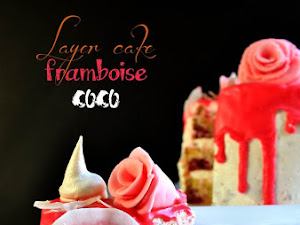 Gâteau d'anniversaire framboise coco ~ Layer cake