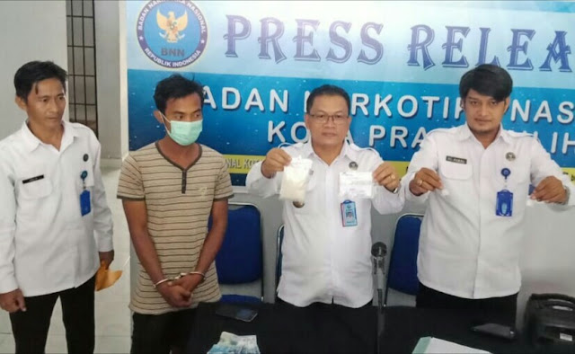 BNN Kota Prabumulih Berhasil Mengamankan Kurir Sabu