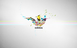 Adidas Logo Colorful Paint Splash HD Wallpaper