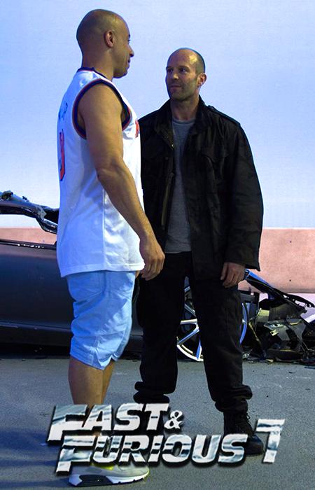 Confruntare între Vin Diesel şi Jason Statham la filmările pentru Fast & Furious 7
