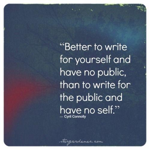 Kutipan alasan menulis untuk diri sendiri