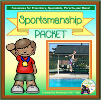 A spotsmanship teaching packet with printables, worksheets, and posters