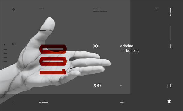 Trend and Inspiration Web Design 2018 - Aristide Benoist – Portfolio