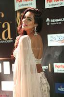 Prajna Actress in backless Cream Choli and transparent saree at IIFA Utsavam Awards 2017 0087.JPG