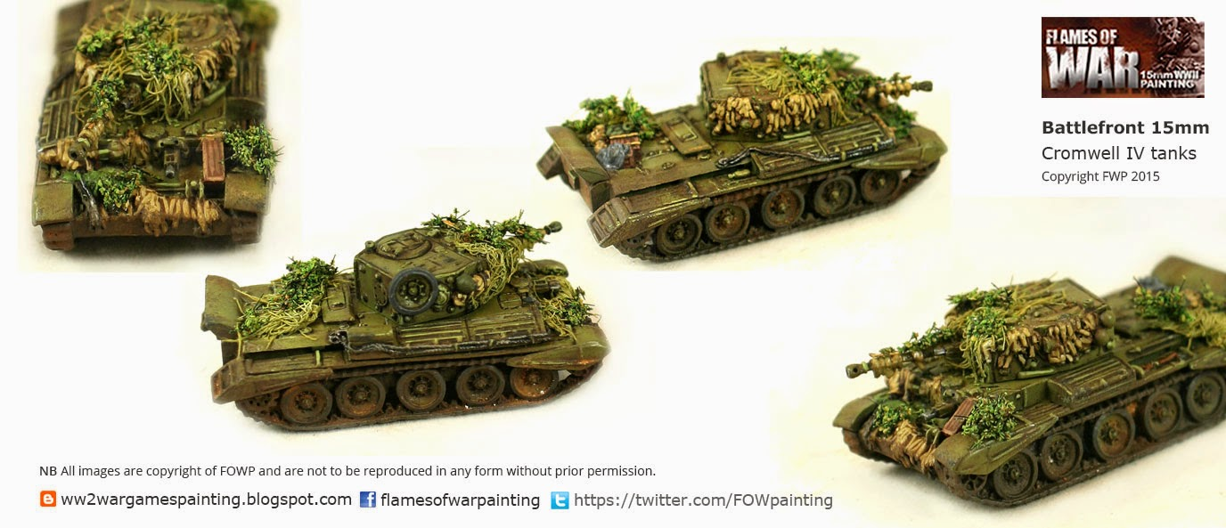 WW2 British tanks Painted- Cromwell IV by FOWP flames of war painting