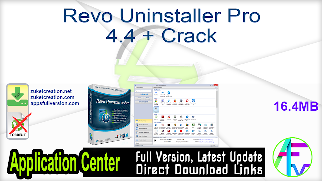 Revo Uninstaller Pro 4.4 + Crack