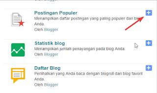 Cara Memasang Gadget atau Widget Di Blogger Atau Blogspot