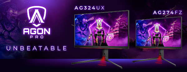 Experimente um gameplay lendário: novos monitores AGON PRO para esports, com HDR, HDMI 2.1 e 1 ms GtG