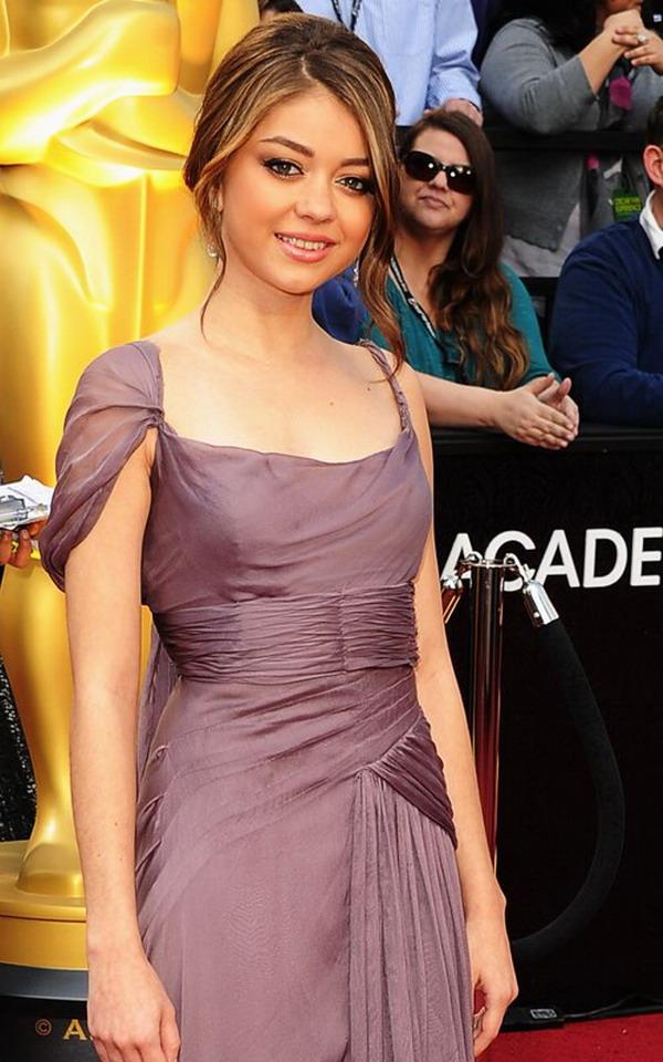 Sexy Prom Dress Sarah Hyland wearing lavender dress elegant to