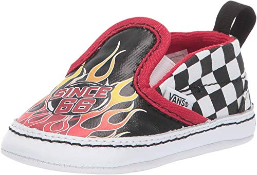 21198ed66b1027 Vans Infant Toddler Race Flame Slip on V Crib Kids Baby Shoe (4 M US Infant