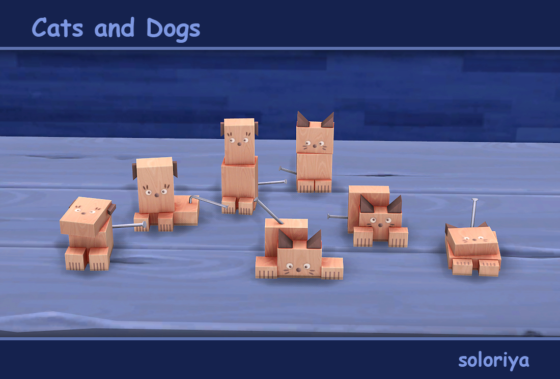Soloriya Cats And Dogs Sims 4