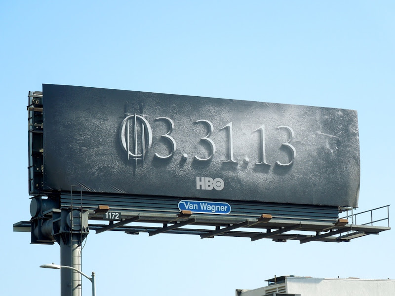 Game of Thrones season 3 teaser billboard