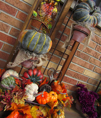 Adding Fall Touches to the backyard Patio space.