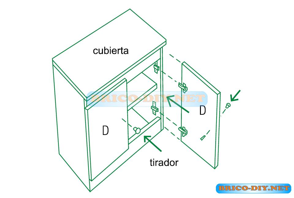 Muebles de cocina melamina planos ideas for Planos de melamina