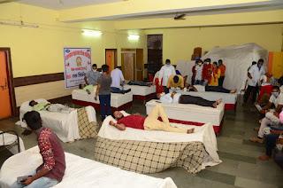 रक्तदान महादान सेवा समिति द्वारा विशाल रक्तदान शिविर सम्पन्न