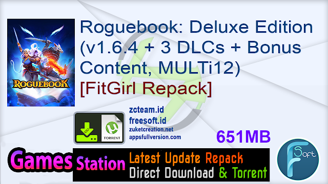 Roguebook: Deluxe Edition (v1.6.4 + 3 DLCs + Bonus Content, MULTi12) [FitGirl Repack, Selective Download – from 518 MB]