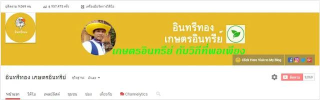 ตัวอย่าง youtube channel