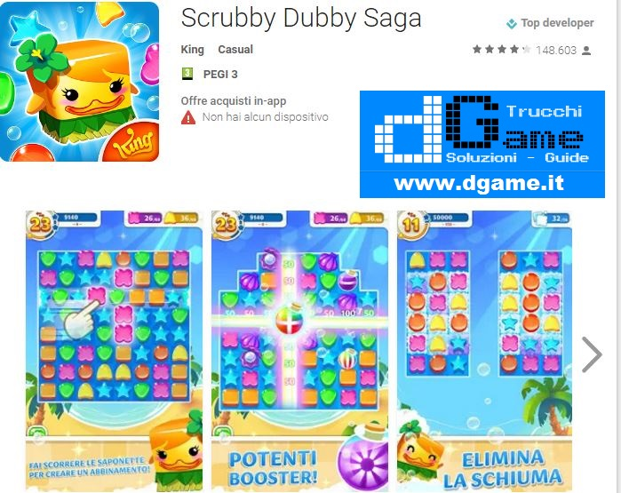 Soluzioni Scrubby Dubby Saga livello 101 102 103 104 105 106 107 108 109 110 | Trucchi e  Walkthrough level