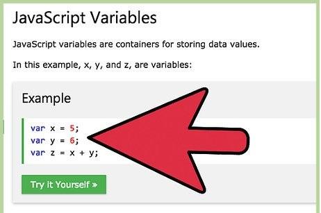 Javascript variables