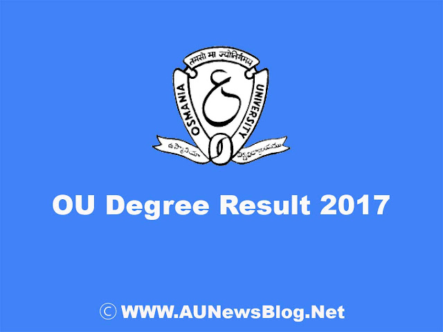 OU Degree Result October 2017 published on osmania.ac.in