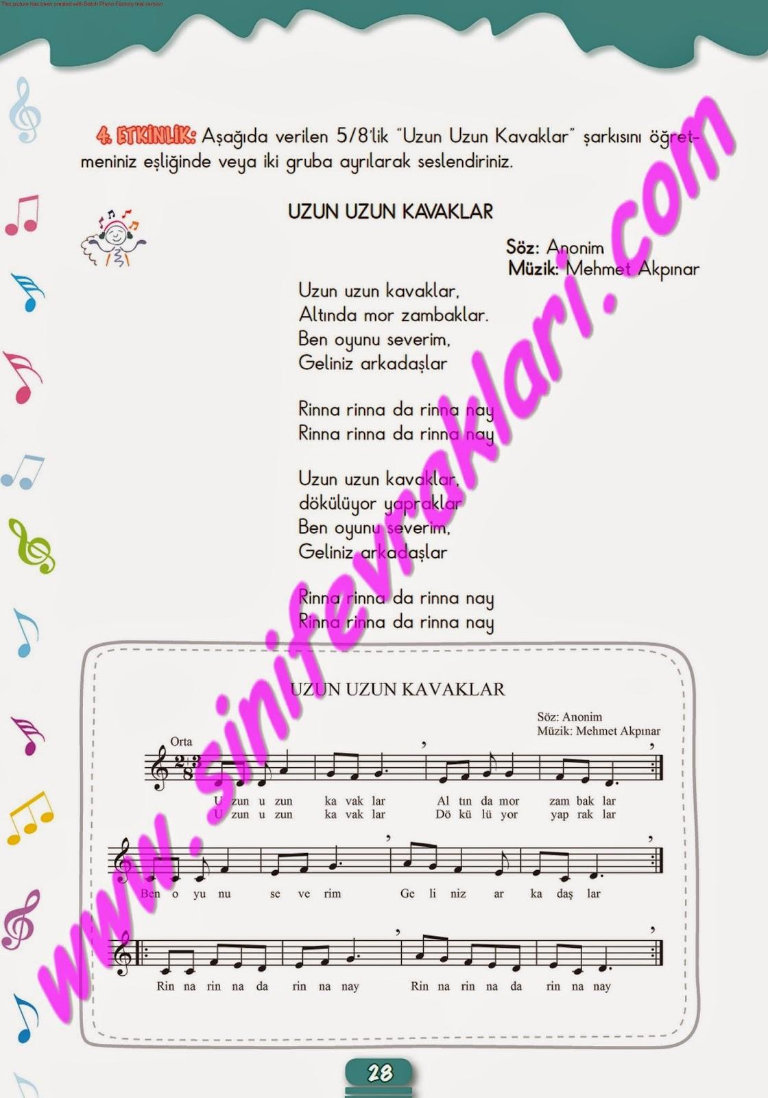 5sınıf Müzik çalışma Kitabı Cevapları Meb Yayınları Sayfa 28 Ders