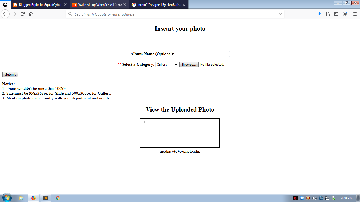 Cara Deface Exploit Gallery Upload Shell | Simple - ESCTEAM