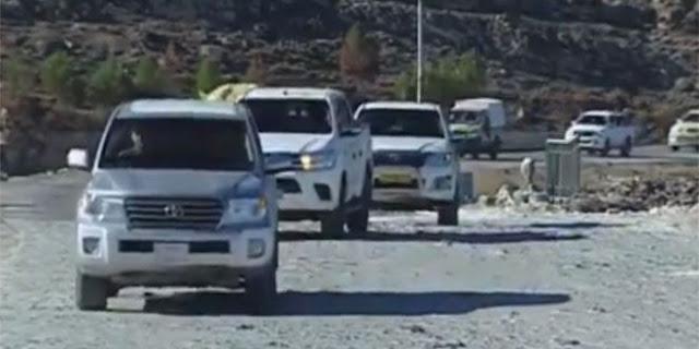 الدفاع السورية تعلن عن انسحاب قافلة من الوحدات القتالية الكردية من منبج (فيديو)