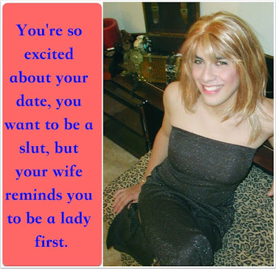 Be a lady first Sissy TG Caption - kyra sissy musings - Crossdressing and Sissy Tales and Captioned images