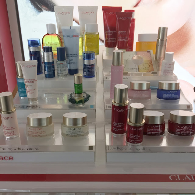 Clarins range of skin care
