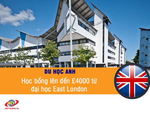 Du học Anh: Học bổng lên đến £4000 từ đại học East London năm 2020