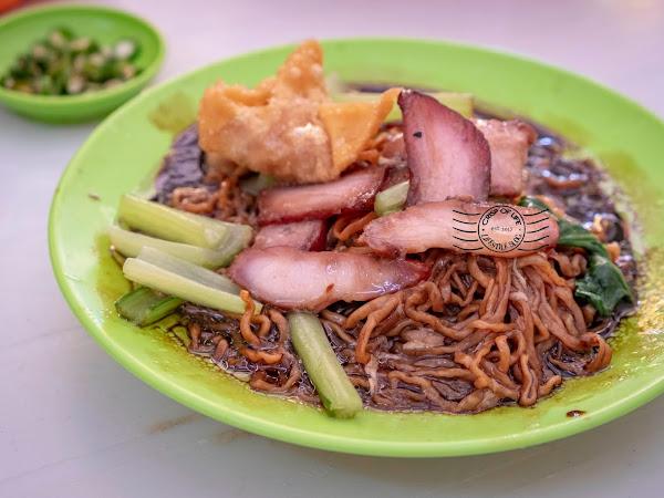 Wantan Mee with Homemade Noodle for RM 3.50 only @伟光茶室, Jalan Kuala Kangsar