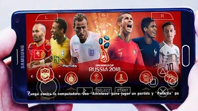 تحميل لعبة PES 2019 PSP مود كأس العالم روسيا 2018 مع أحداث الانتقالات والاطقم لموسم 2018/2019