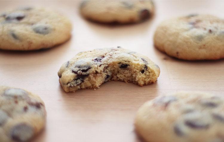 Recette des cookies aux pépites au chocolat