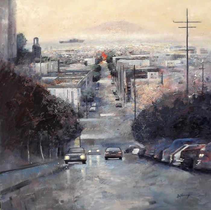 Напряженная атмосфера городских кварталов. George Emile Denorroy