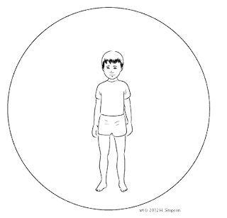 Boy standing in bubble