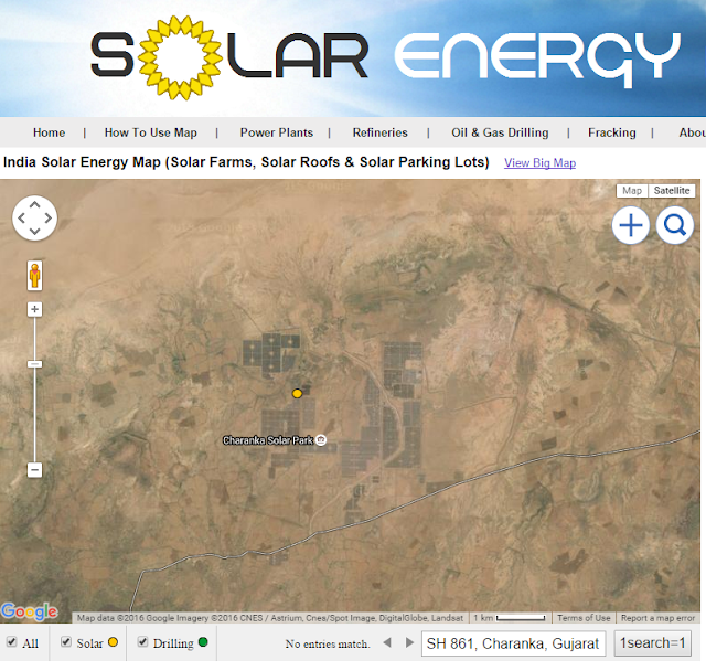 Map of India Solar Farm in Desert